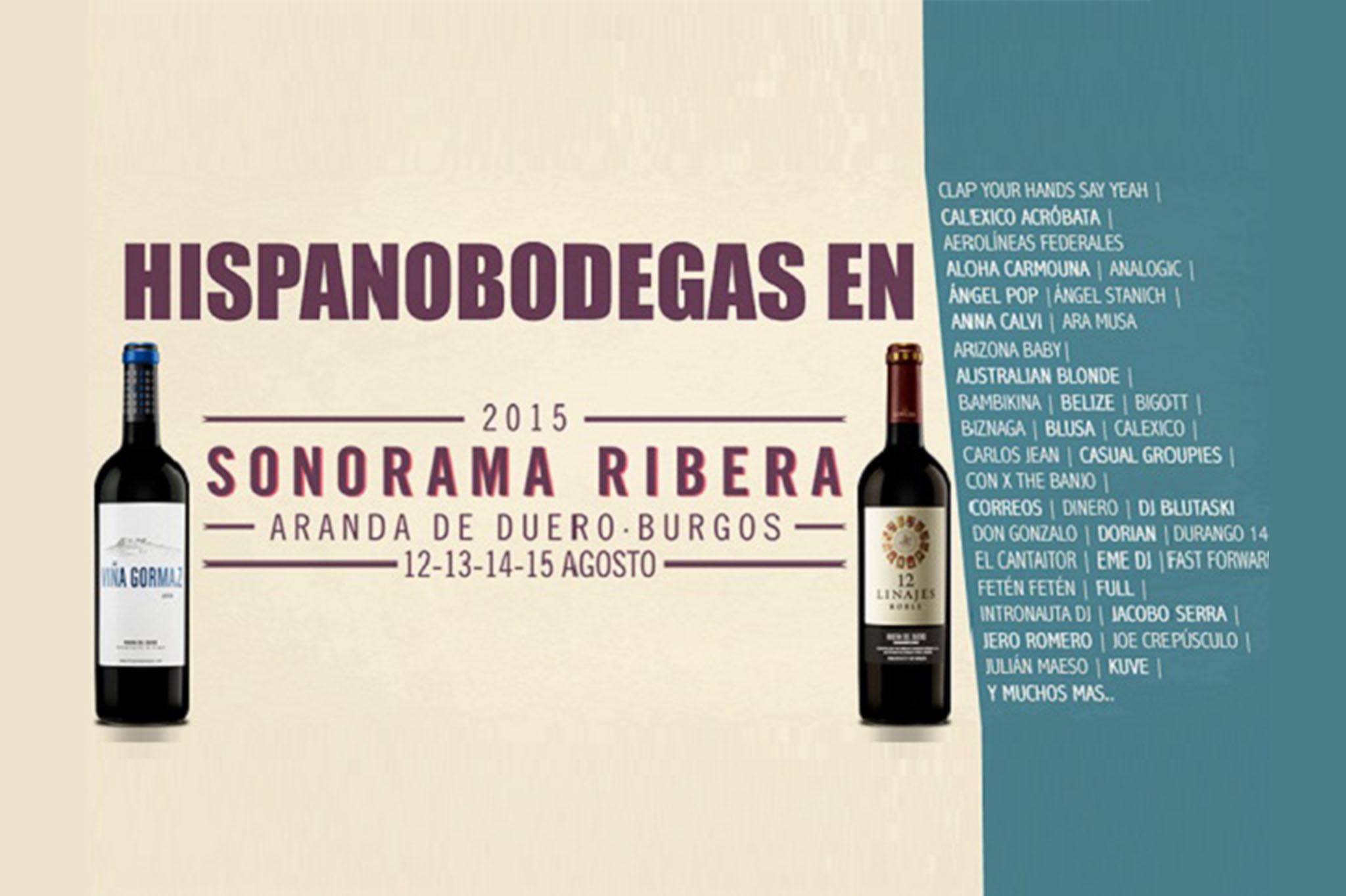 Hispanobodegas, Present at Sonorama Festival 2015