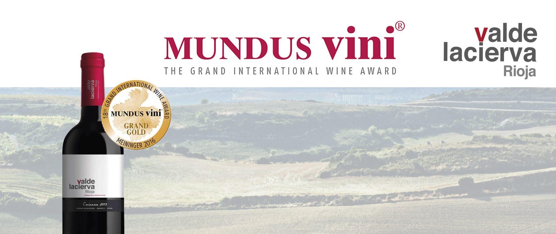 Mundus Vini gives its biggest award to Valdelacierva Crianza 2013.
