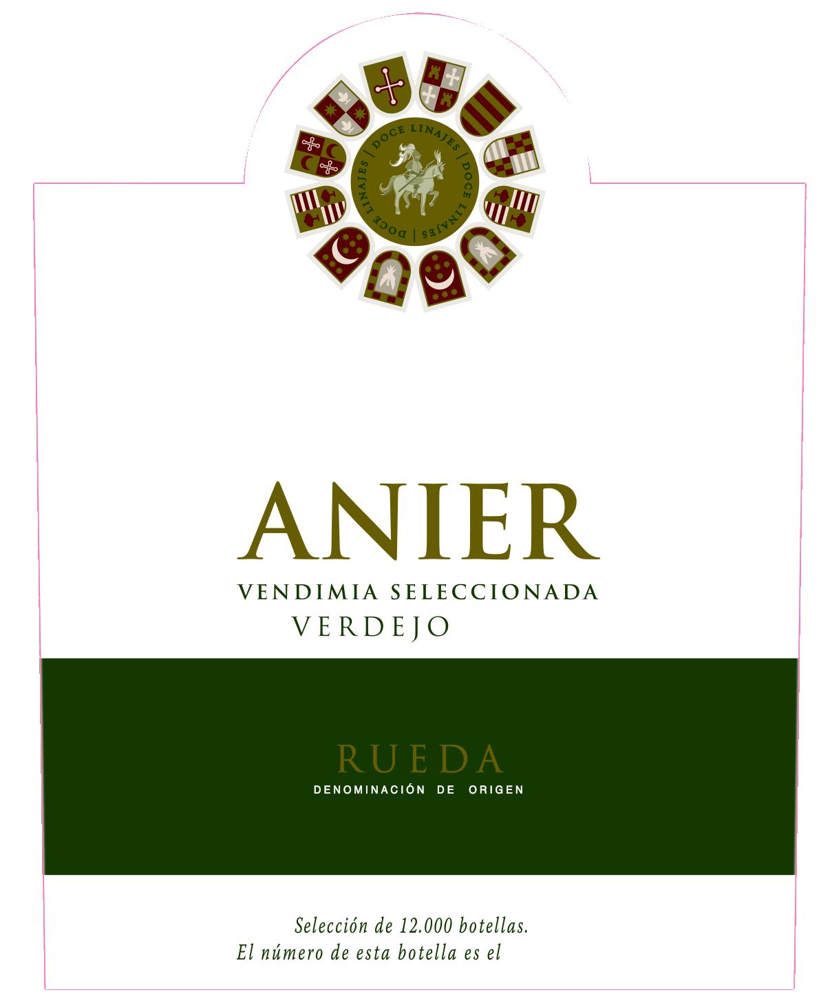 Vino verdejo Anier Rueda