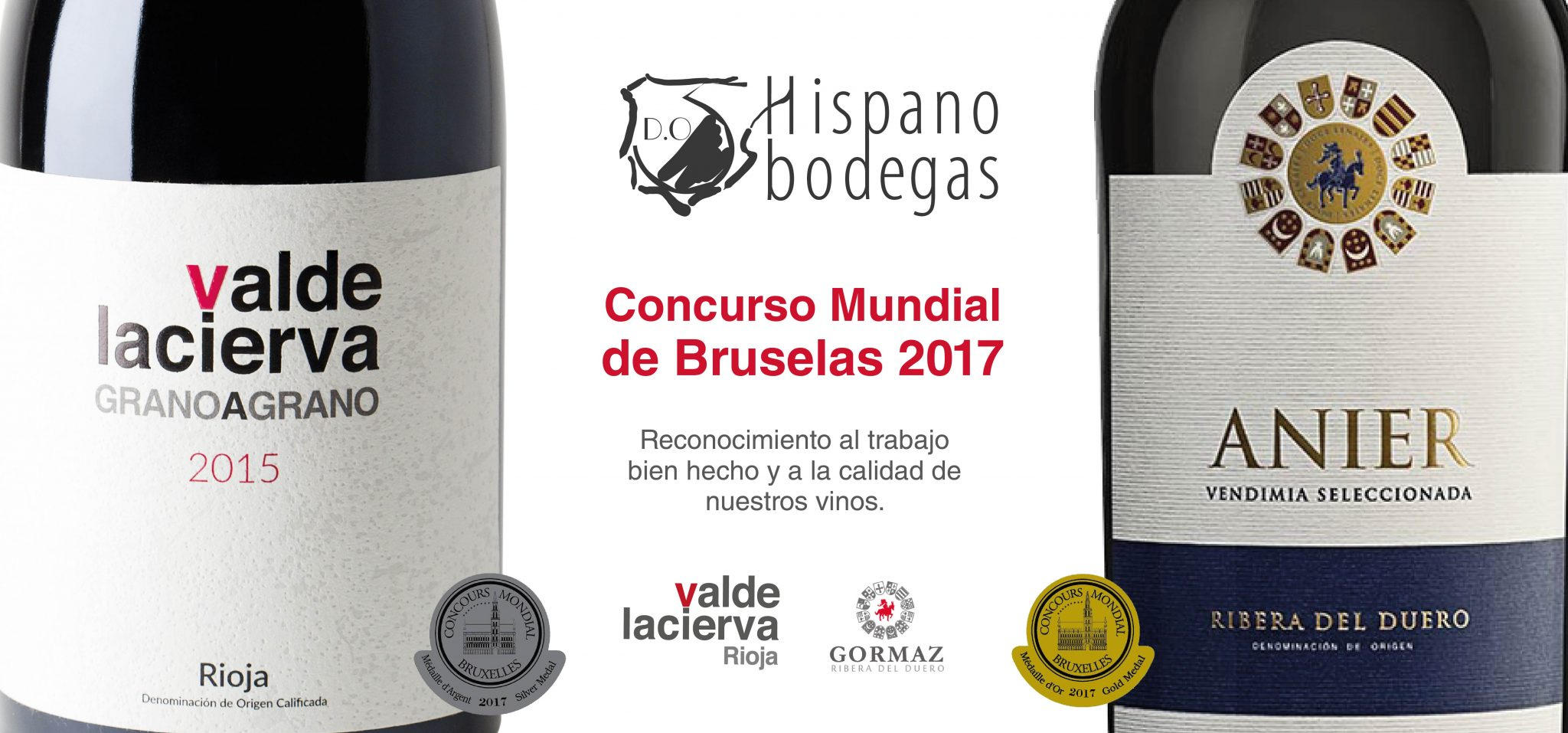 Gold & Silver Medals for the wines of Hispanobodegas at the Concours Mundial de Bruxelles