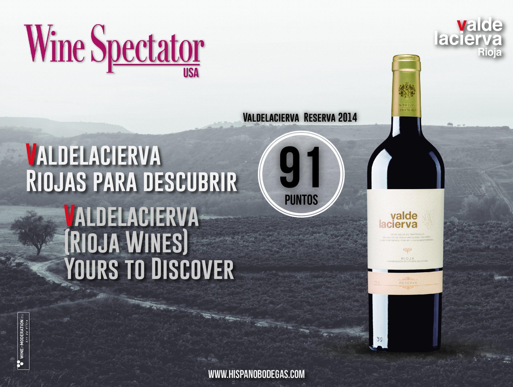 Valdelacierva Reserva 2014 obtiene 91 puntos