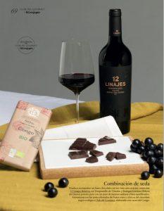 12 Linajes reserva maridaje vino y chocolate ribera del duero