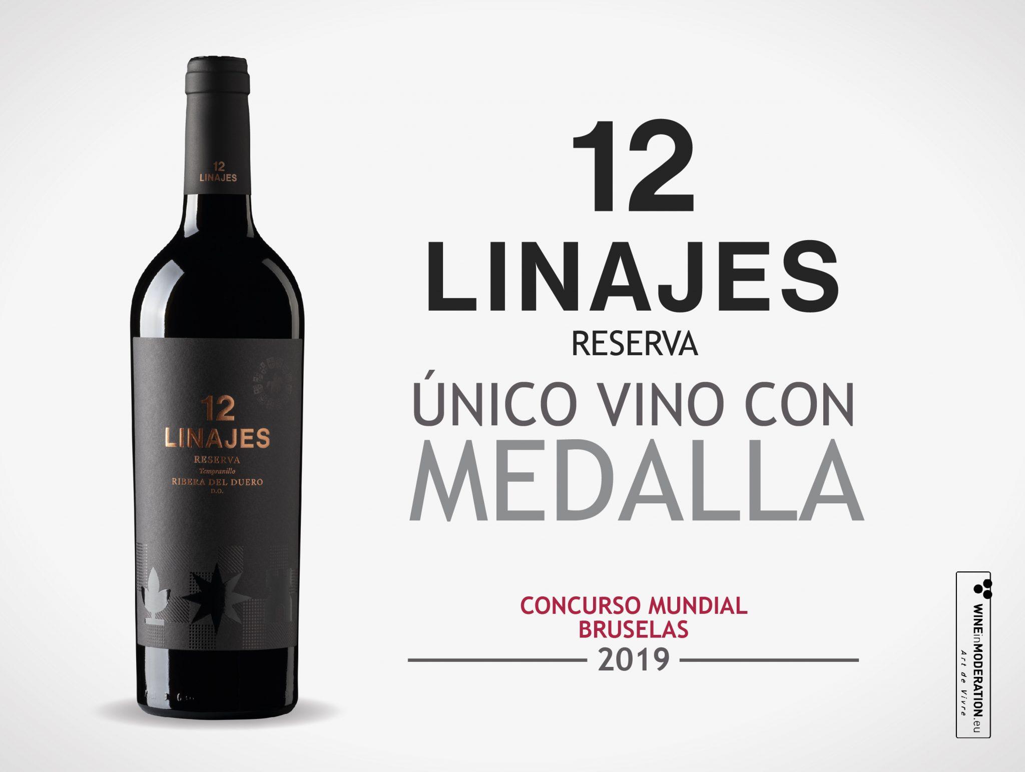 12 Linajes único vino premiado