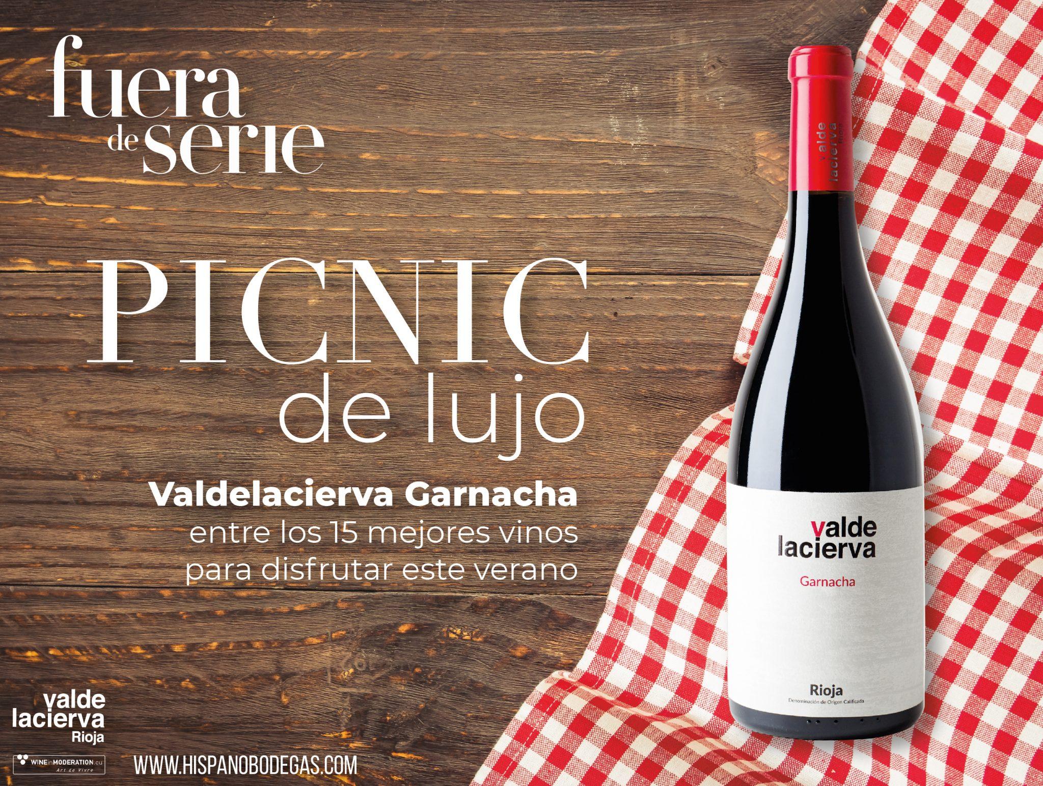 A luxurious picnic: Valdelacierva Garnacha