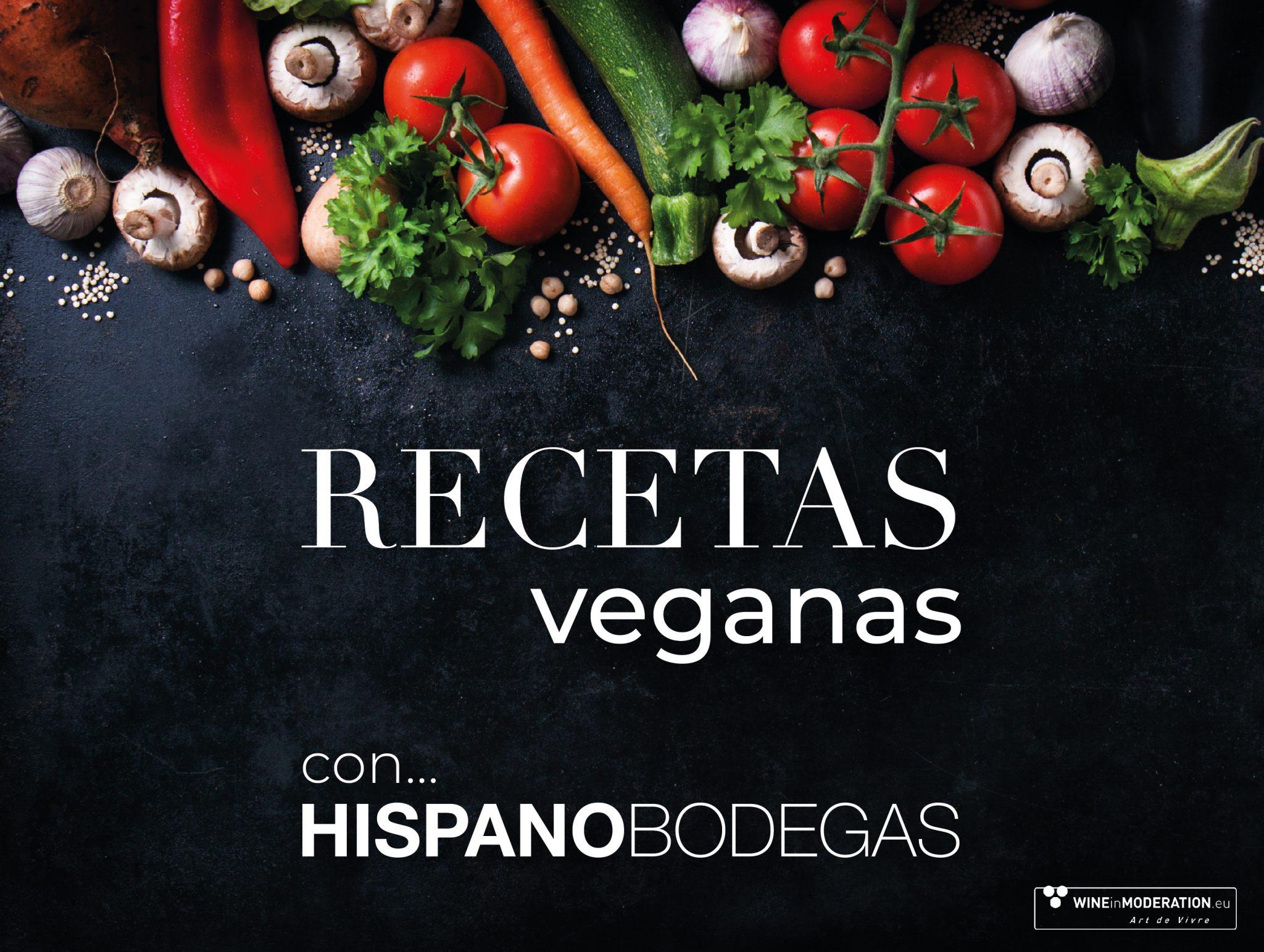 Recetas veganas con vinos veganos