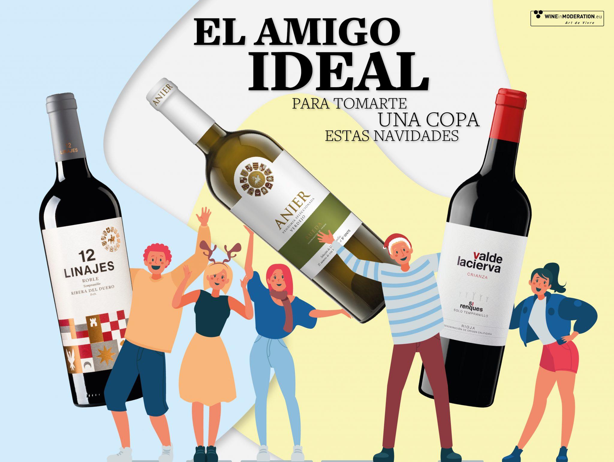 El perfil de amigo ideal (y el no tan perfecto) para tomarte una copa de vino estas fiestas.