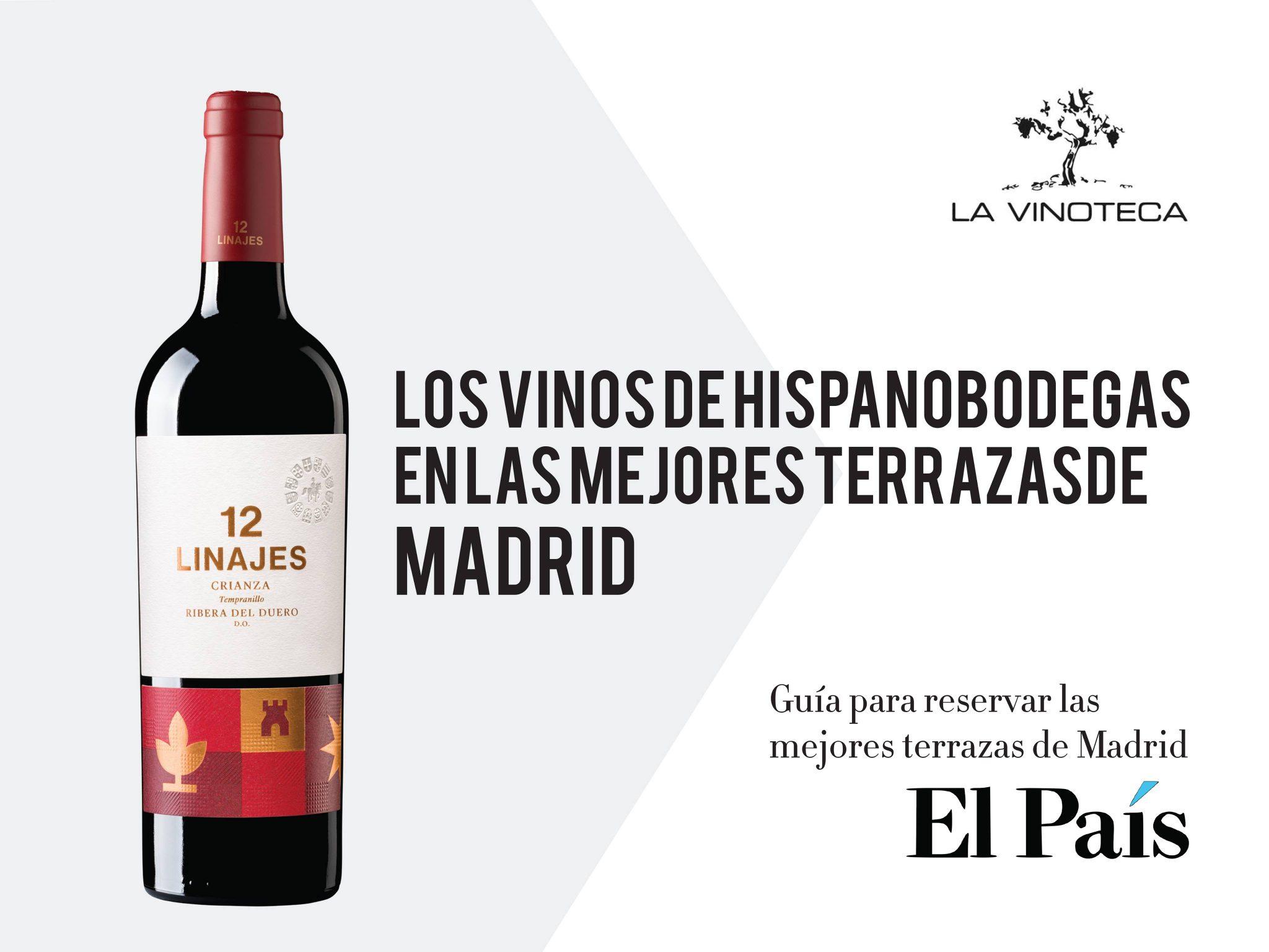 Las mejores terrazas de Madrid sirven vinos de Hispanobodegas