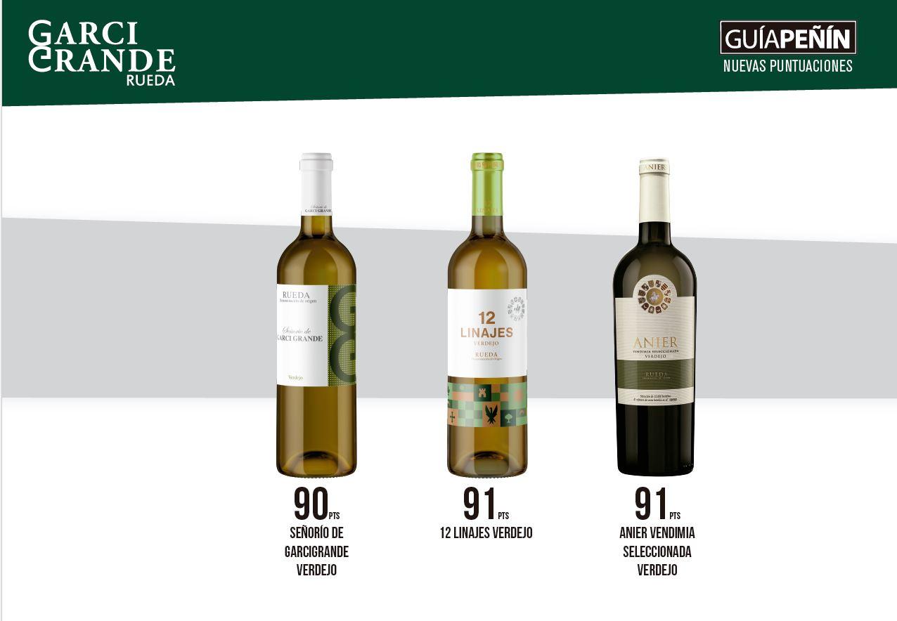 91 puntos vinos garcigrande guía peñin 2021 vinos de rueda