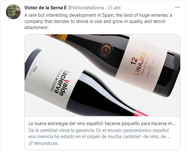 victor de la serna valdelacierva vino rioja el mundo